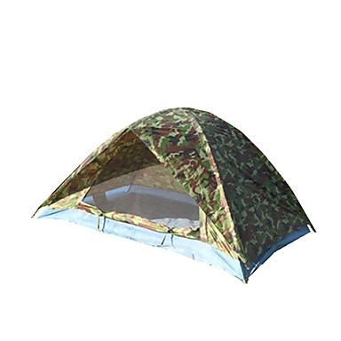 2 personer Telt Dobbelt camping Tent Utendørs Vanntett Bærbar Vindtett Støvtett Anti-Insekt Sammenleggbar Myggvern Pusteevne til Fisking