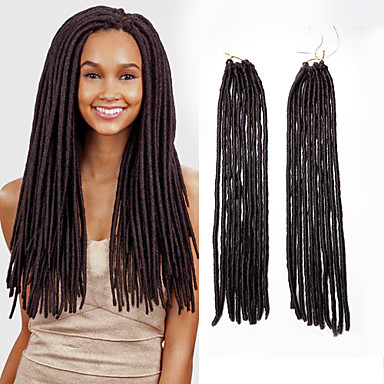 Gehaakte haarvlechten Gehaakte Faux Dreadlocks Faux Dreadlocks Dreadlock Extensions synteettinen 1pc / verpakking Dread Locks Haarvlechten