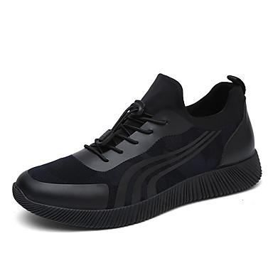 Miehet kengät Tekonahka Kevät Kesä Lenkkitossut Käyttötarkoitus Musta Sininen