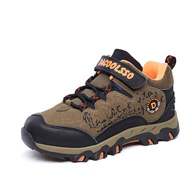 女の子 靴 フリース 冬 秋 コンフォートシューズ アスレチック・シューズ ハイキング 編み上げ のために アウトドア Brown ブルー