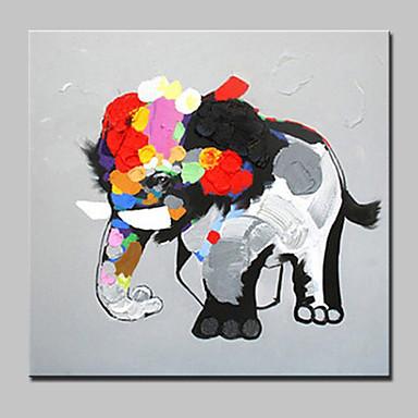 Handgemalte Tier Cartoon Design Ölgemälde,Modern Europäischer Stil Ein Panel Leinwand Hang-Ölgemälde For Haus Dekoration