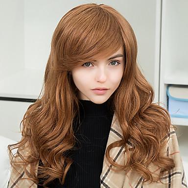 muoti mukava vino otsatukka pitkät aaltoilevat hiuksista capless peruukit