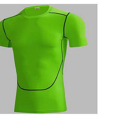 Herrn Kurzarm Rasche Trocknung Atmungsaktiv Komfortabel Kleidungs-Sets für Freizeit Sport Eng Weiß Schwarz Dunkelblau Leicht Grün S M L XL