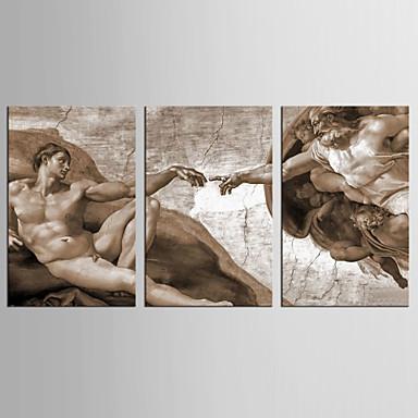 Abstrakt Mennesker Klassisk Europeisk Stil, Tre Paneler Lerret Lodrett Trykk