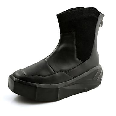 Herre Komfort Sko PU Vår / Høst Sporty Støvler Gange Anvendelig Støvletter Hvit / Svart / Kombinasjon / Fashion Boots
