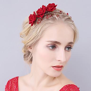 Krystall Strass Fløyel Tiaras pannebånd blomster 1 Bryllup Spesiell Leilighet Hodeplagg
