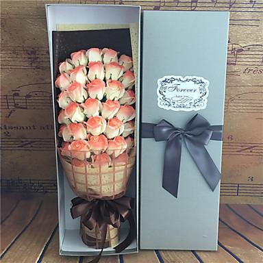 1 Ast Echtes Rosen Tisch-Blumen Künstliche Blumen 60*12