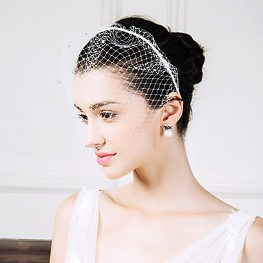 حجر الراين / صاف بندانة رأس / غطاء شفاف للوجه مع 1 زفاف / مناسبة خاصة / فضفاض خوذة