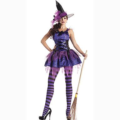 Cosplay Kostüme Party Kostüme Maskerade Zauberer/Hexe Film Cosplay Kleid Hut Halloween Karneval Frau