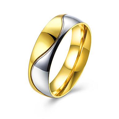 Ring Schmuck Stahl Golden Schmuck Für Normal 1 Stück