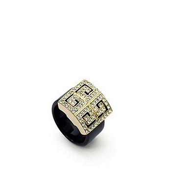 Damen Ring Kristall Modisch Luxus-Schmuck Europäisch Zirkon Österreichisches Kristall Aleación Schmuck Für Alltag Normal