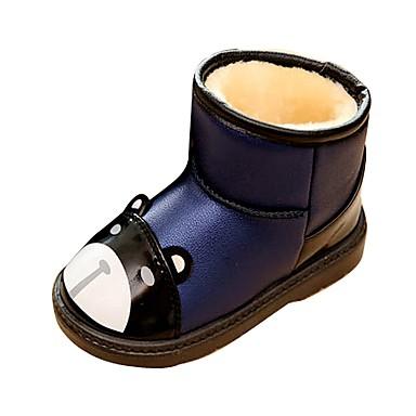 Poikien Kengät Tekonahka Talvi Muotisaappaat Talvisaappaat Comfort Bootsit Kävely varten Kausaliteetti ulko- Juhlat Valkoinen Tumman