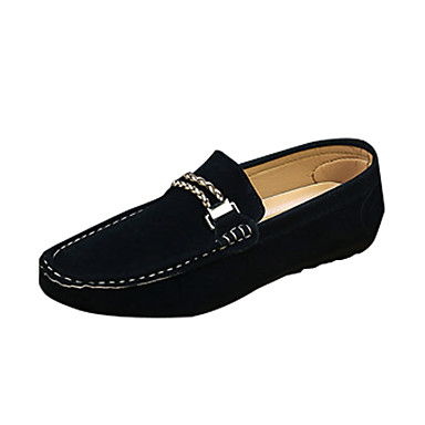 Herrn Schuhe PU Frühling Herbst Komfort Loafers & Slip-Ons für Normal Schwarz Grau Blau