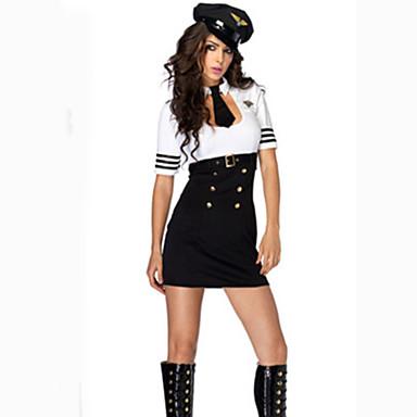 Cosplay Kostüme Party Kostüme Polizei Seefahrer Karriere Kostüme Film Cosplay Kleid Hut Krawatte Halloween Karneval Frau