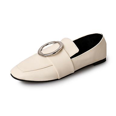 Damen-Loafers & Slip-Ons-Lässig-PU-Niedriger Absatz-Komfort-Schwarz Beige