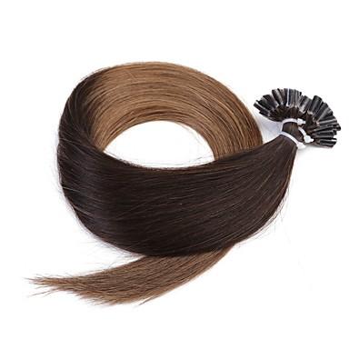 neitsi 20 '' 50グラム/ロット1グラム/ sのオンブルuが融合人間の髪の毛の拡張子を傾ける前接合ネイル100%レミーt2-8#