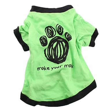 Hund T-shirt Hundekleidung Lässig/Alltäglich Buchstabe & Nummer Grün Blau