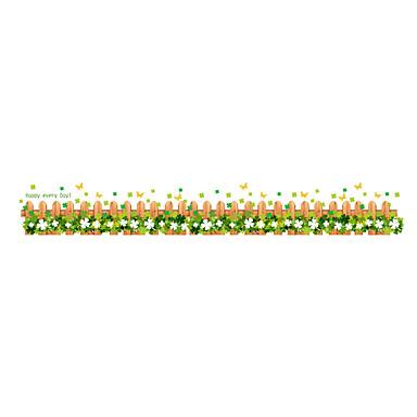動物 植物の フローラル柄 ウォールステッカー プレーン・ウォールステッカー 飾りウォールステッカー,ビニール 材料 洗濯可 取り外し可 再利用可 ホームデコレーション ウォールステッカー・壁用シール