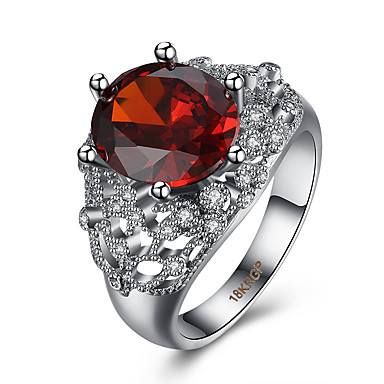 Damen Ring Kubikzirkonia Luxus Zirkon Kupfer Titanstahl Diamantimitate Schmuck Party Alltag Normal