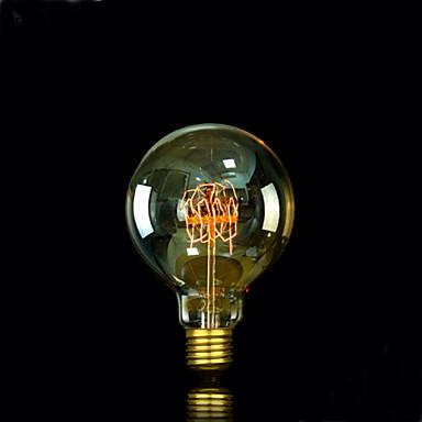 1pc 25W E27 E26/E27 E26 G95 Varm hvit 2300 K Glødende Vintage Edison lyspære 220V 85-265V