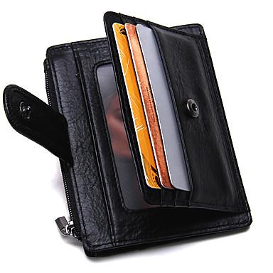 preiswerte Taschen-Herrn Bankkarten & Ausweis Tasche / Reisverschluss Rindsleder Solide Schwarz
