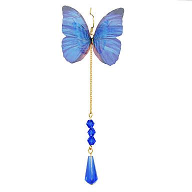 Mulheres Brincos Compridos - Azul Para Casual