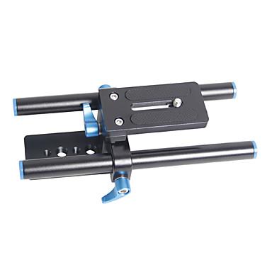 yelangu placa de altura de la base de la cámara universal ajustable con cierre rápido y barras de 15 mm de camereas y videocámaras