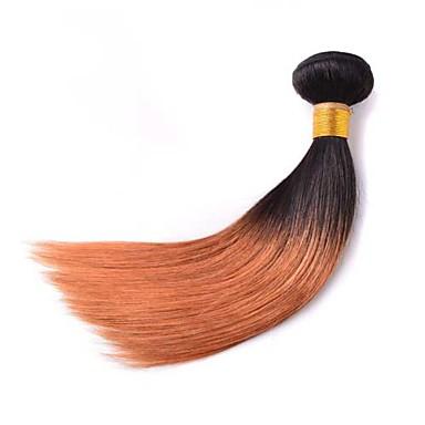 Brasilialainen Suora Classic Hiukset kutoo 3 osainen Korkealaatuinen Ombre Päivittäin