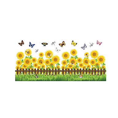 Dyr Mote Blomster Veggklistremerker Fly vægklistermærker Dekorative Mur Klistermærker, Vinyl Hjem Dekor Veggoverføringsbilde Vegg Glass /
