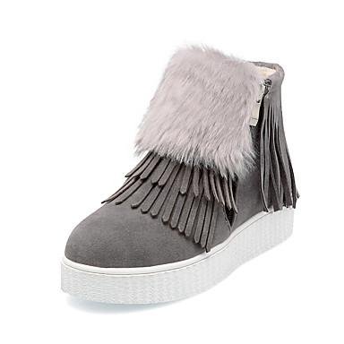 Bottes Laine Hiver 05535349 Automne Bout Bottes rond Confort Fermeture Plateau Fourrure Femme neige Chaussures Randonnée synthétique de aXvIInxA