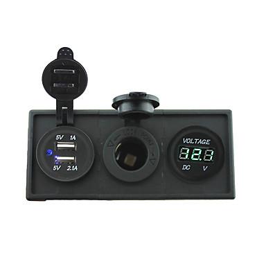 12V / 24V de potencia del puerto USB y charger3.1a 12v calibre voltímetro con el panel titular de la vivienda para rv del carro del barco