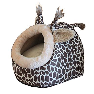 Gato Perro Camas Mascotas Cojín y Almohadas Leopardo Plegable Transpirable Suave Leopardo Para mascotas