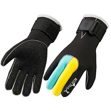 Bluedive Dykking Hansker / Aktivitets- og Sportshansker / Skihansker 3mm Nylon / neopren Full Finger Hold Varm, Slitasje-sikker,