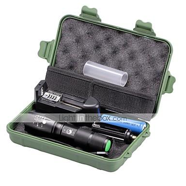 2000 lm LED Flashlights LED 5 طريقة - U'King زوومابلي / Adjustable Focus / تخفيت