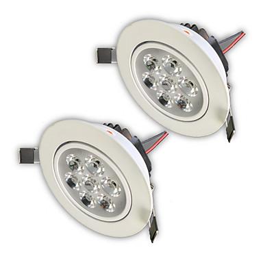 ZDM® 2pcs 7 W 750-850 lm 7 LED Mulighet for demping / Lett installasjon / Nedfellt Innfelt lampe Varm hvit / Kjølig hvit / Naturlig hvit 220 V / 110 V / 12 V Hjem / kontor / Kjøkken / Stue / spisestue