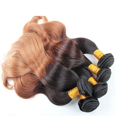 4 kötegek 12-26 hüvelykes test hullám brazil ombre haj sző színes 1b / 27 #