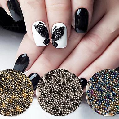 10000PCS/Bag 0.8MM Fashion Mini Metallochrome Bead Nail Art ...