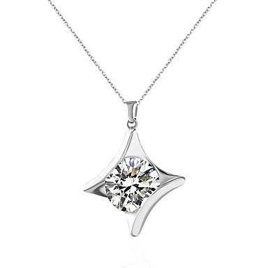 Mujer Collares con colgantes - Diamante Sintético Diseño Único Plata Gargantillas Para Boda, Pedida, Diario