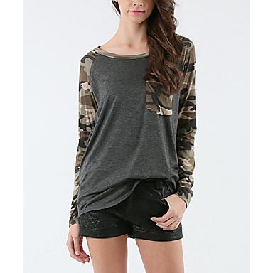b1b8f02f4025 AliExpress europa ny lomme syning camouflage t-shirt slank kvindelige  modeller på lager