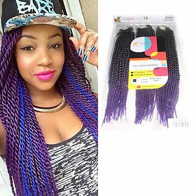 Geflochtenes Haar Senegal Twist Braids / Echthaar Haarverlängerungen Synthetische Haare Haar Borten Alltag