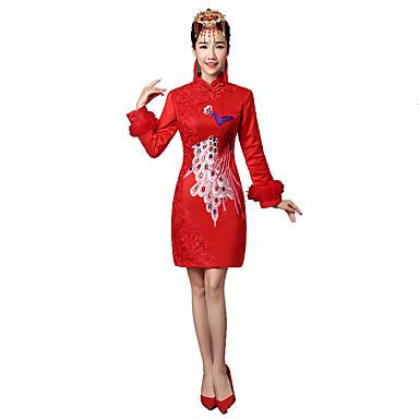 Klassisk og Tradisjonell Lolita Vintage Inspireret Elegant Dame Cosplay Langermet Medium Lengde