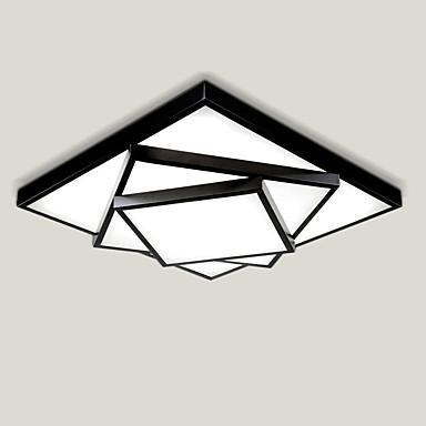 52 cm diseño de patrón geométrico estilo moderno simplicidad lámpara de techo llevada montaje empotrado de metal sala de estar dormitorio luz