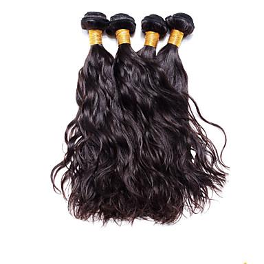 Человека ткет Волосы Бразильские волосы Естественные волны 4 предмета волосы ткет