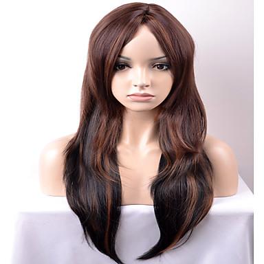 Syntetiske parykker Løse bølger tetthet Lokkløs Dame Brun Karneval Parykk Halloween parykk Naturlig parykk Lang Veldig lang Syntetisk hår