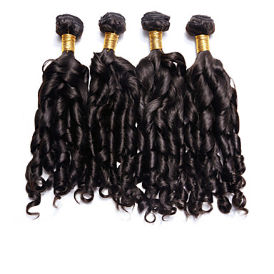 Υφάνσεις ανθρώπινα μαλλιών Βραζιλιάνικη Βαθύ Κύμα 4 Κομμάτια υφαίνει τα μαλλιά