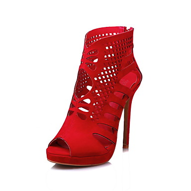 Marche Talon Bottes Automne Chaussures Laine Mariage club Confort Rouge Mode à Fermeture Printemps Noir de ouvert Femme Bottes Aiguille synthétique Chaussures Bout 05573276 Gladiateur la Eté xOXqw58d6