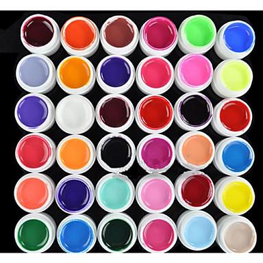 hesapli Tırnak ve Ojeler-Polonya UV Jel Tırnak 8 ml 36 pcs UV Renkli Jel / UV Oluşturucu Jel / Klasik Uzun Ömürlü kapalı emmek Günlük UV Renkli Jel / UV Oluşturucu Jel / Klasik Hızlı Kurulama