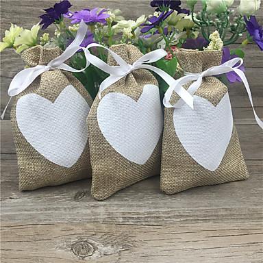 Redondo Cuadrado De Forma Cúbica Yute Soporte para regalo  con Cintas Estampado Cajas de regalos Bolsos de regalos - 20