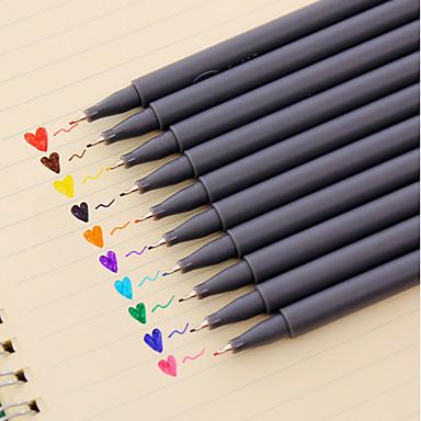 Pen gel Caneta Canetas de cor de água Caneta, Plástico Vermelho Preto Azul Amarelo Púrpura Laranja Verde cores de tinta For material