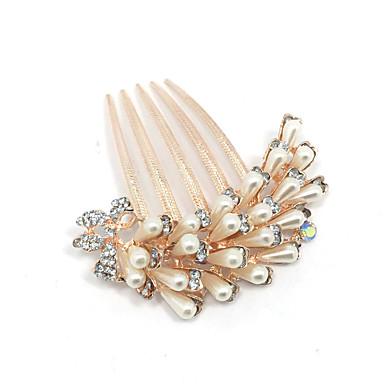 חיקוי שיער פנינה מסרקים כלי שיער headpiece בסגנון נשי קלאסי